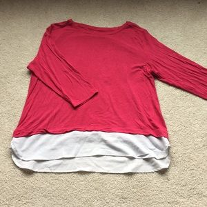Faux layer shirt